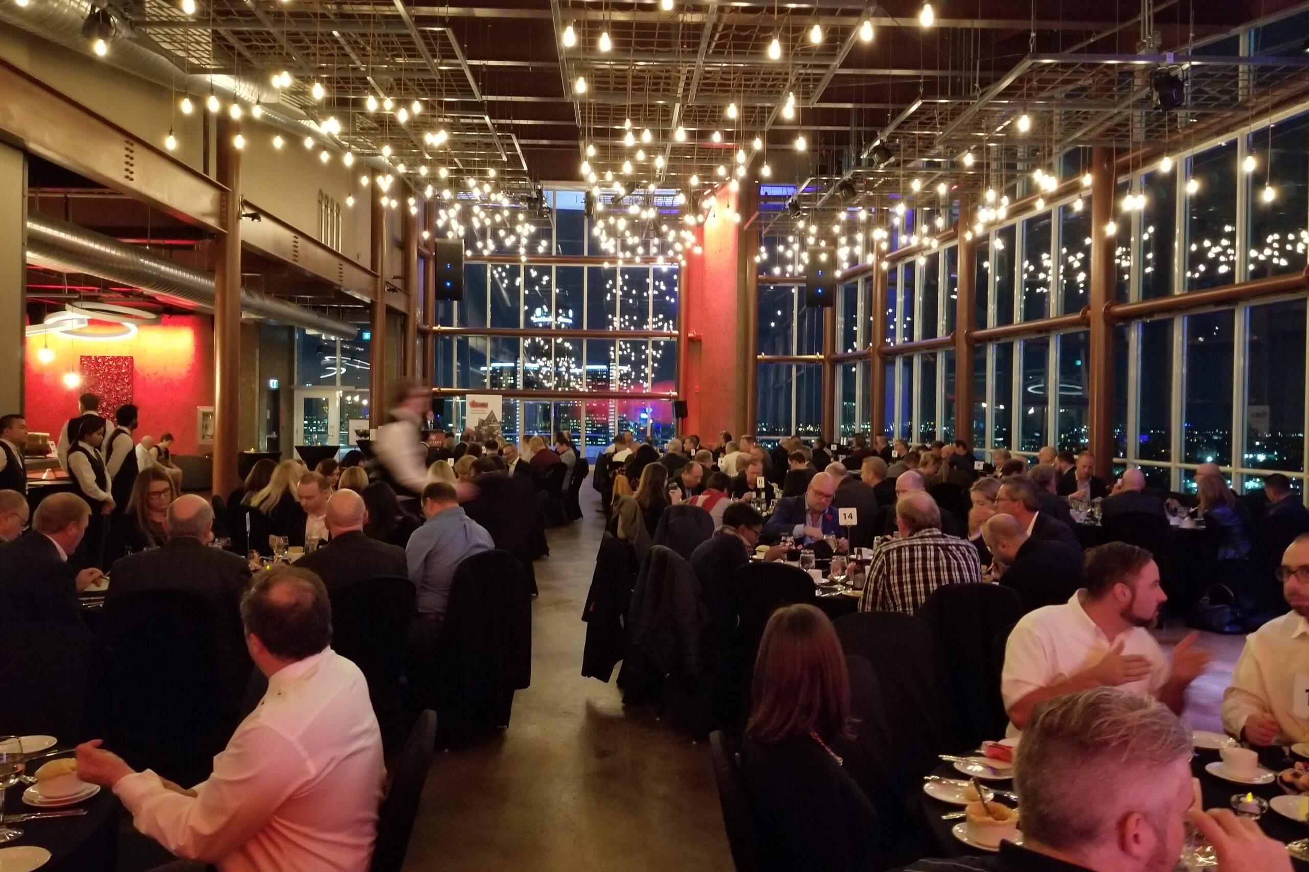 CAMM dinner Nov. 5, 2018 - packed room