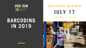 July 17 - BARCODING IN 2019