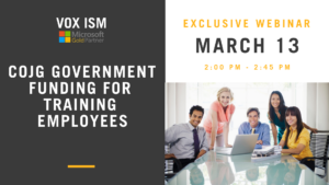 COJG Government Funding – March 13 – Webinar