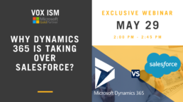 Why Dynamics is taking over Salesforce – May 29 – Webinar