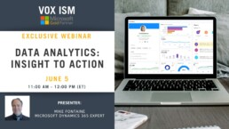 Data Analytics: Insight to Action - June 5 - Webinar VOX ISM