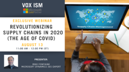 Revolutionizing supply chains in 2020 (the age of COVID) - August 13 - Webinar