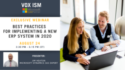 Best practices for implementing a new ERP system in 2020 - August 24 - Webinar