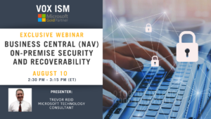Workshop: Business Central\NAV on-premise security and recoverability - August 10 - Webinar