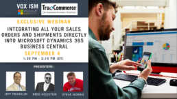 Integrating all your sales orders and shipments directly into Microsoft Dynamics 365 Business Central - September 4 - Webinar