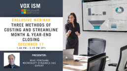 Three methods of costing and streamline month & year-end closing - December 17 - Webinar