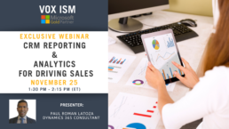 CRM Reporting & Analytics for Driving Sales - November 25 - Webinar