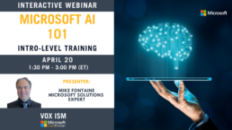 Microsoft AI 101 - Intro Level - April 20 - Webinar