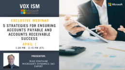 5 Strategies for Ensuring Accounts Payable and Accounts Receivable Success - April 1 - Webinar