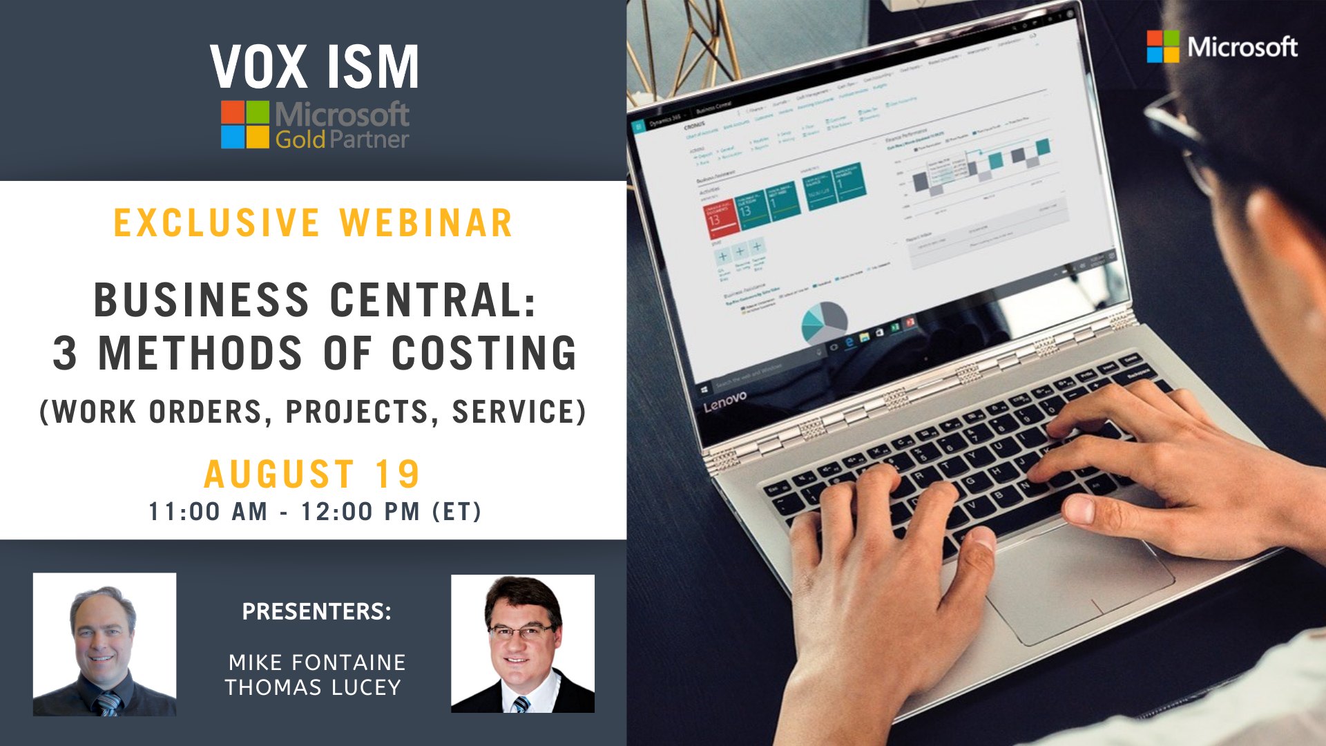 Business Central - 3 methods of costing (Work Orders, Projects, Service) - August 19 - Webinar